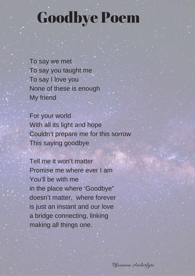 Goodbye Poem – Amberfyre